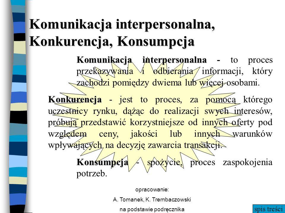 Komunikacja interpersonalna, Konkurencja, Konsumpcja