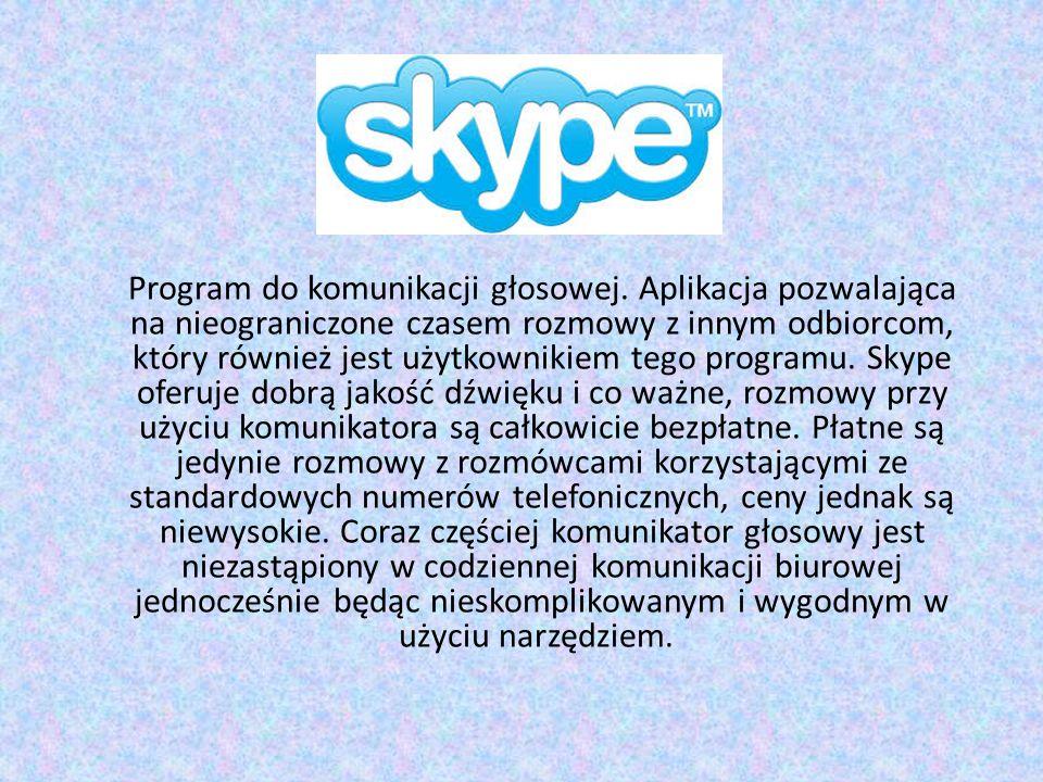 Program do komunikacji głosowej