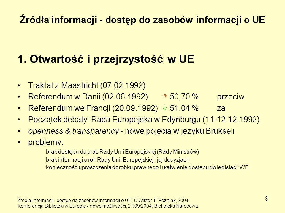 Źródła informacji - dostęp do zasobów informacji o UE