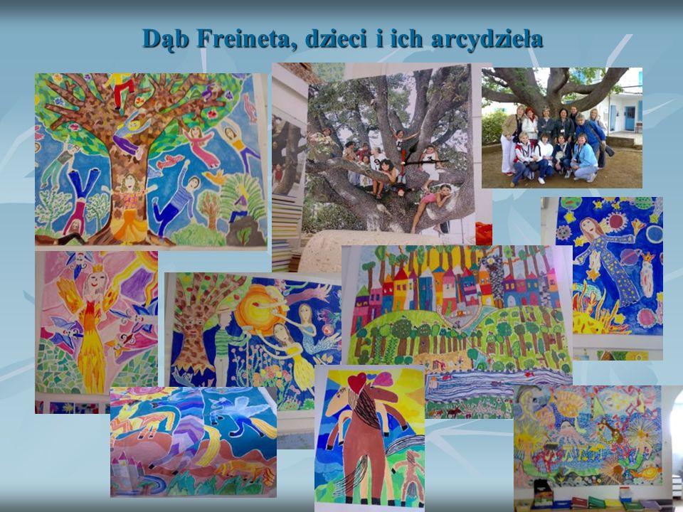 Dąb Freineta, dzieci i ich arcydzieła