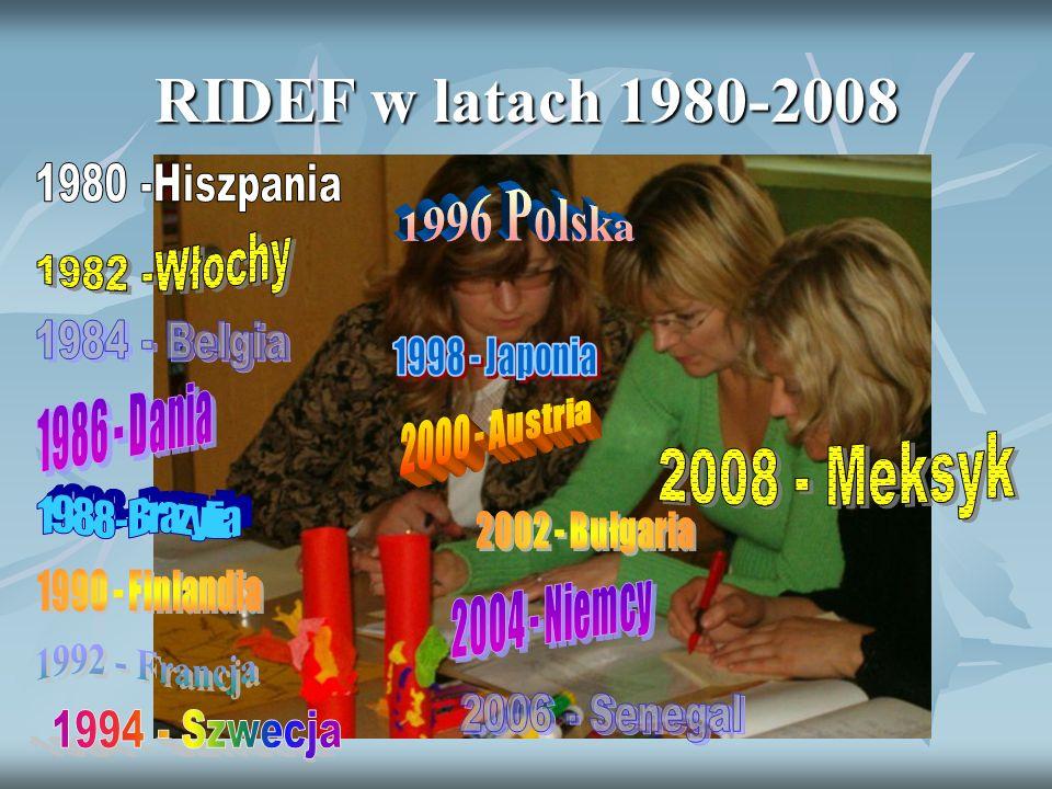 RIDEF w latach 1980-2008 2008 - Meksyk 1980 -Hiszpania 1996 Polska