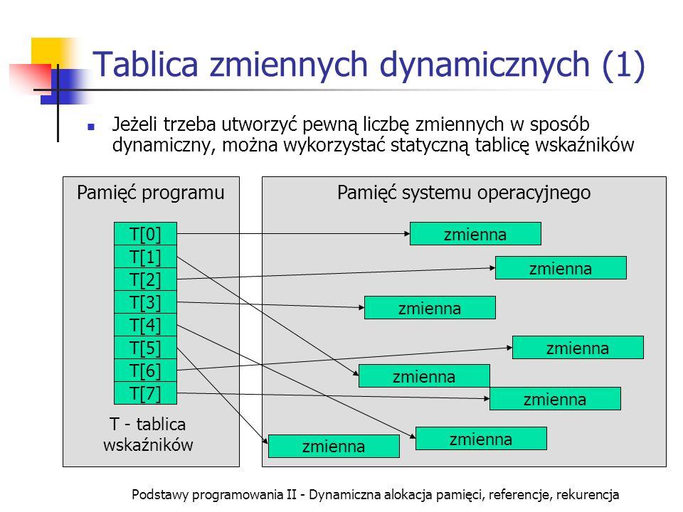 Tablica zmiennych dynamicznych (1)