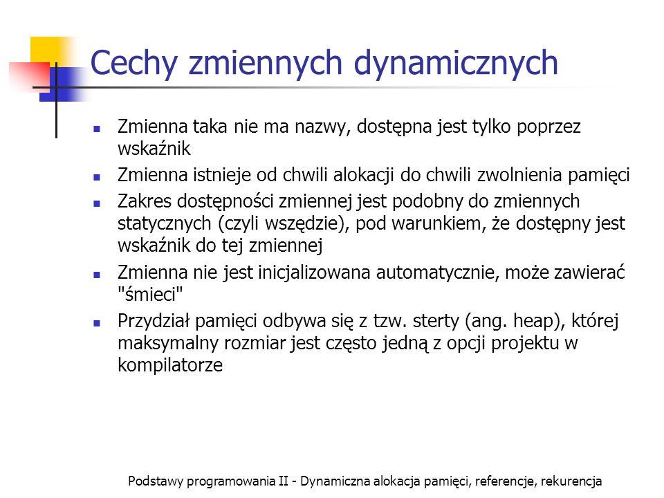 Cechy zmiennych dynamicznych