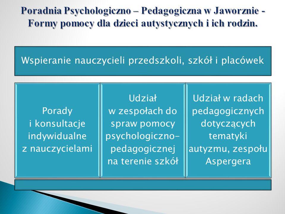 Poradnia Psychologiczno – Pedagogiczna w Jaworznie - Formy pomocy dla dzieci autystycznych i ich rodzin.