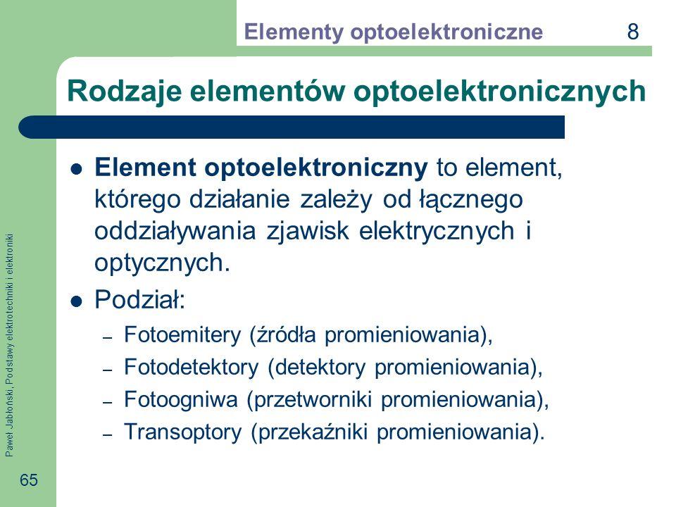 Rodzaje elementów optoelektronicznych