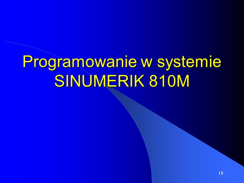 Programowanie w systemie SINUMERIK 810M