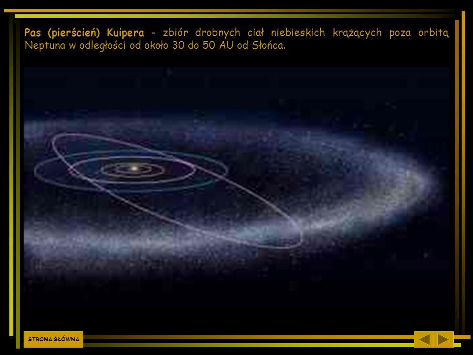 Pas (pierścień) Kuipera - zbiór drobnych ciał niebieskich krążących poza orbitą Neptuna w odległości od około 30 do 50 AU od Słońca..