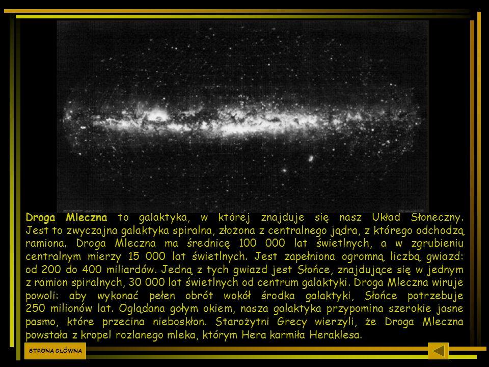 Droga Mleczna to galaktyka, w której znajduje się nasz Układ Słoneczny