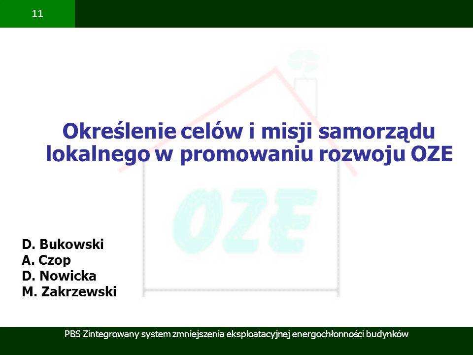 Określenie celów i misji samorządu lokalnego w promowaniu rozwoju OZE