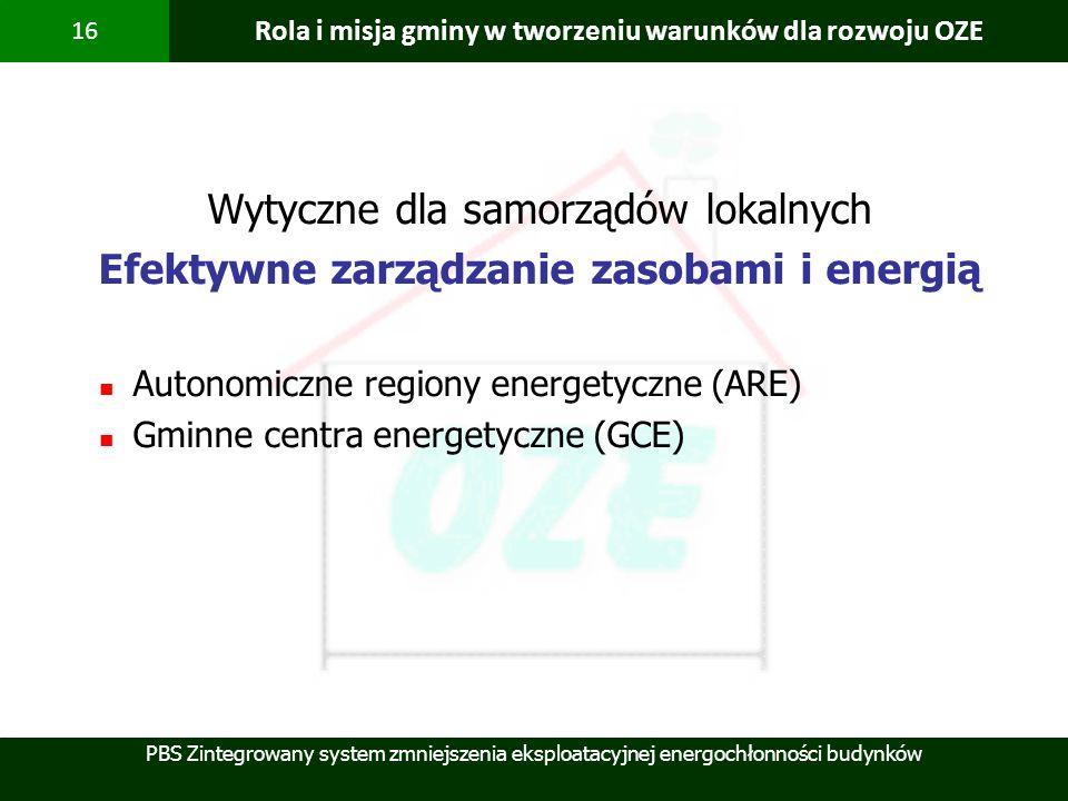Rola i misja gminy w tworzeniu warunków dla rozwoju OZE
