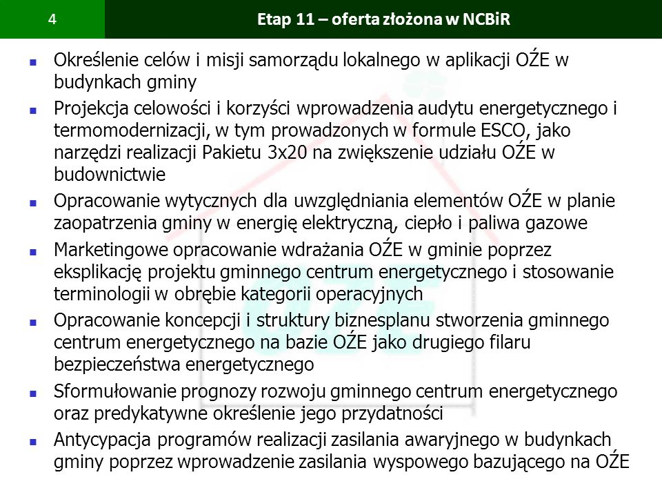 Etap 11 – oferta złożona w NCBiR