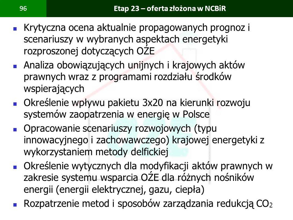 Etap 23 – oferta złożona w NCBiR