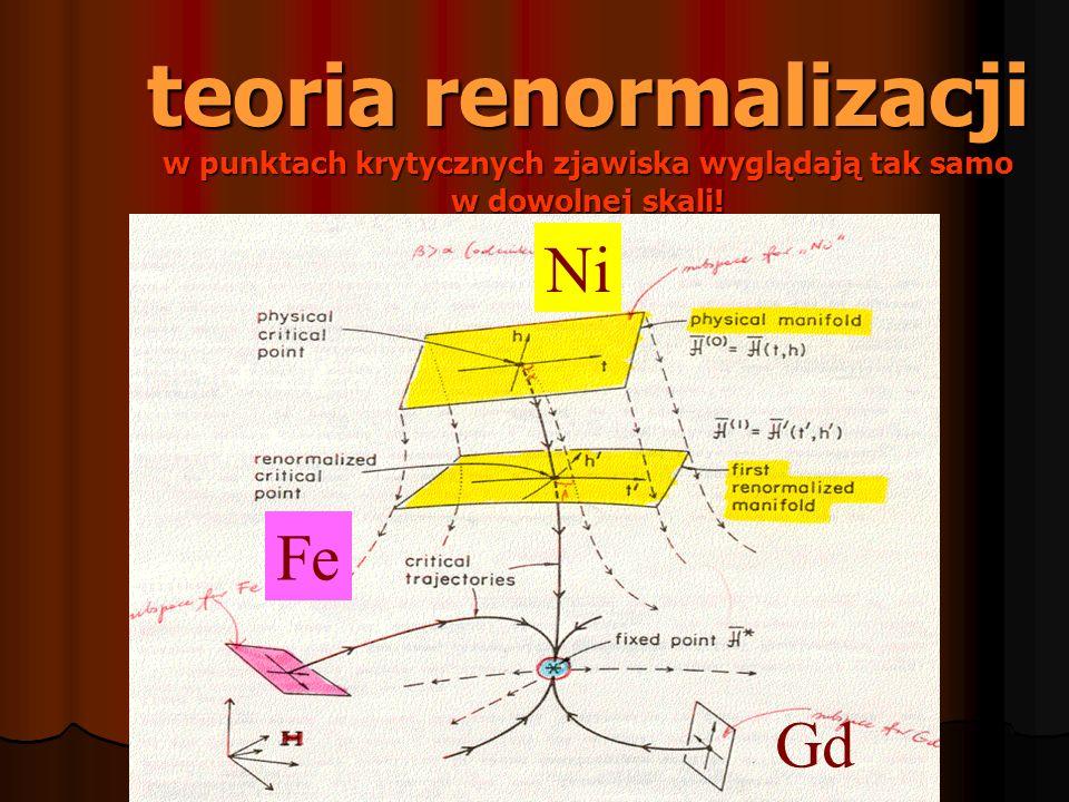 teoria renormalizacji w punktach krytycznych zjawiska wyglądają tak samo w dowolnej skali!