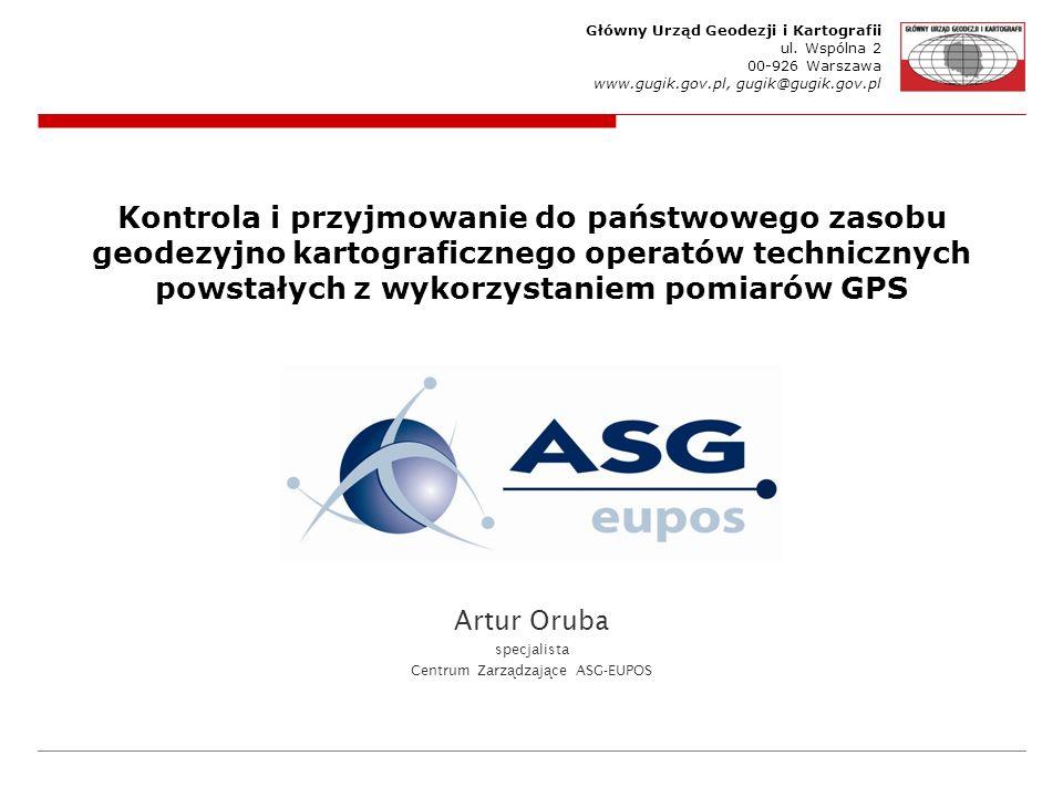 Artur Oruba specjalista Centrum Zarządzające ASG-EUPOS