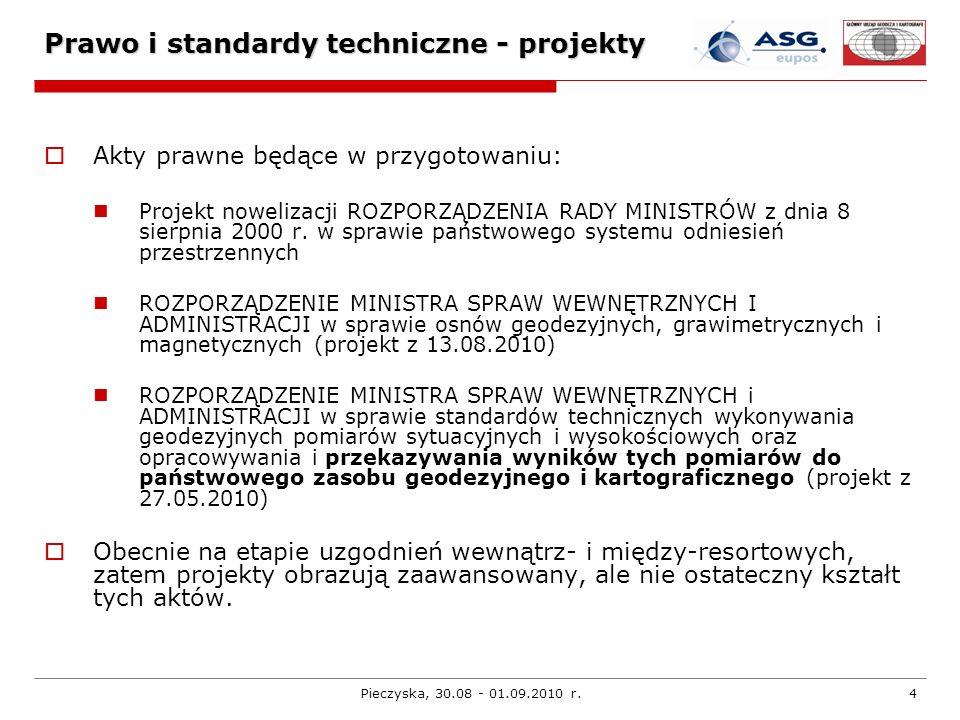Prawo i standardy techniczne - projekty