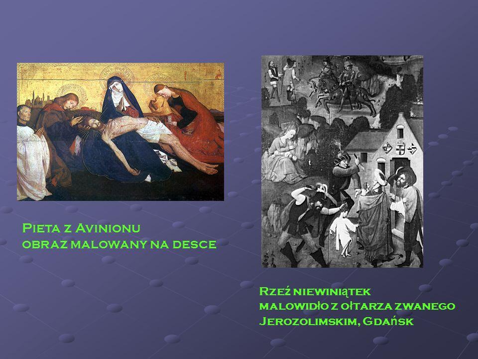 Pieta z Avinionu obraz malowany na desce