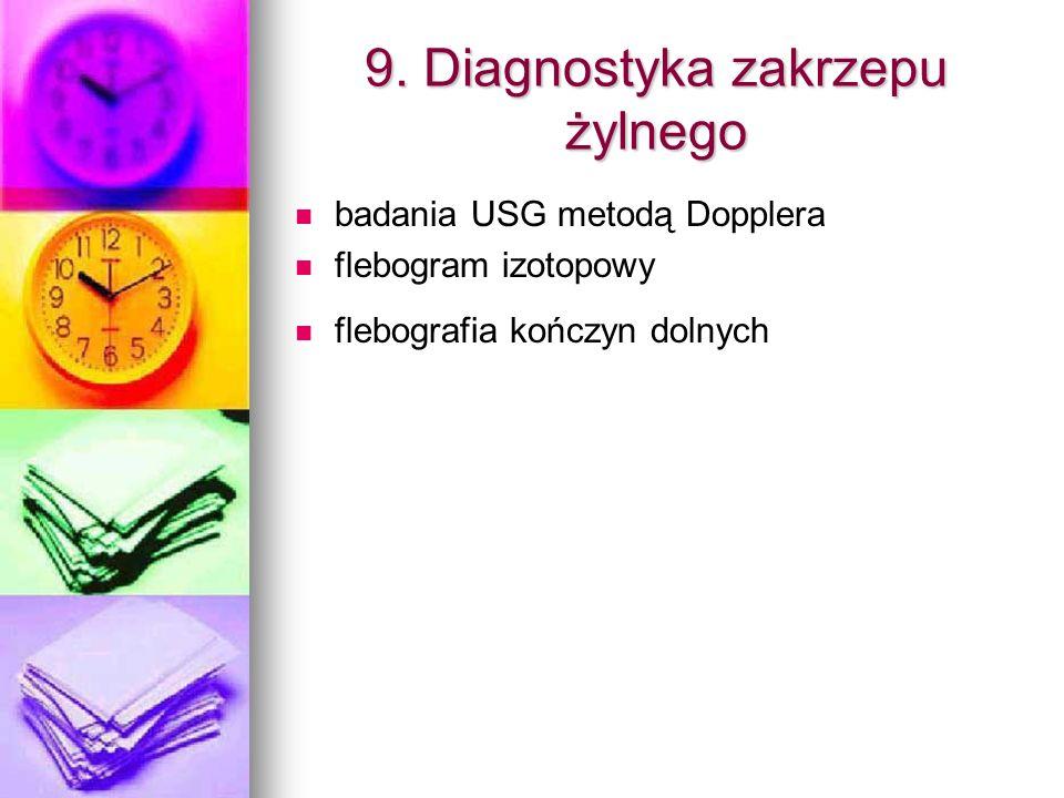 9. Diagnostyka zakrzepu żylnego