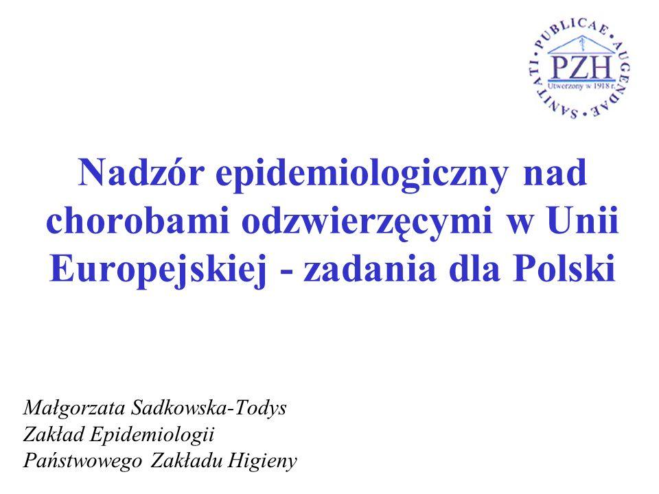Nadzór epidemiologiczny nad chorobami odzwierzęcymi w Unii Europejskiej - zadania dla Polski