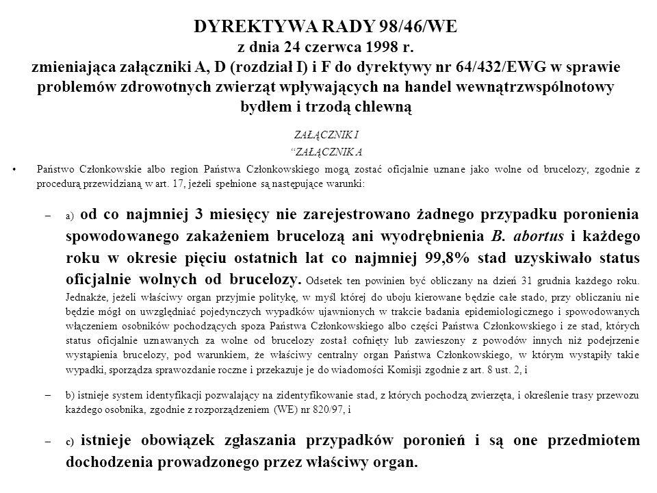 DYREKTYWA RADY 98/46/WE z dnia 24 czerwca 1998 r