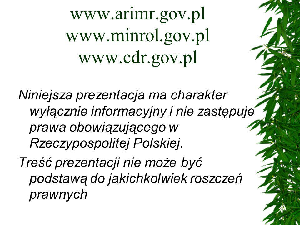 www.arimr.gov.pl www.minrol.gov.pl www.cdr.gov.pl