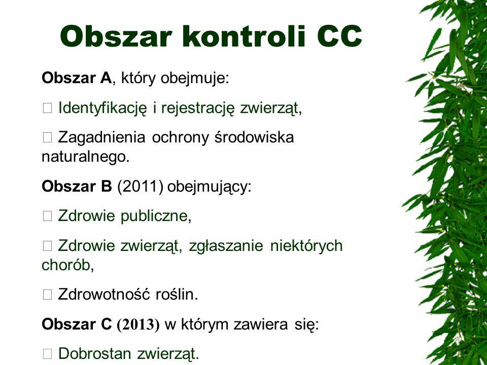 Obszar kontroli CC Obszar A, który obejmuje:
