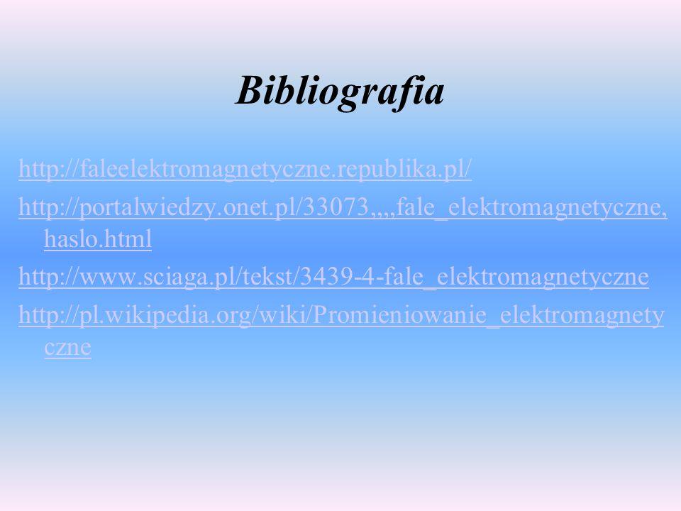 Bibliografia http://faleelektromagnetyczne.republika.pl/