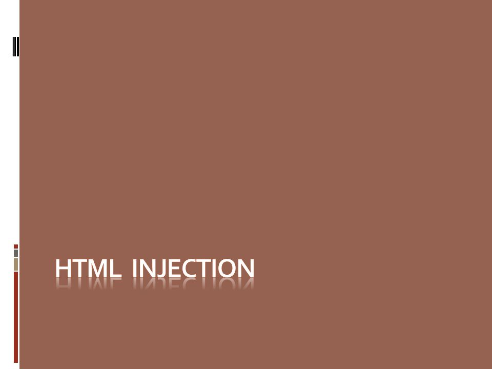 HTML INJECTION