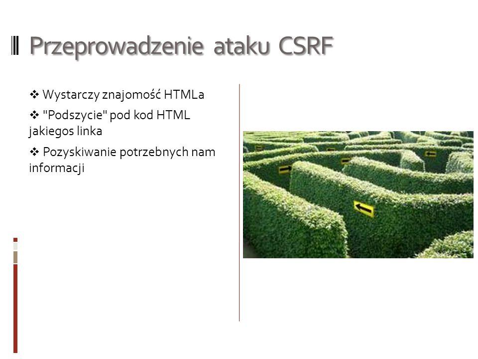 Przeprowadzenie ataku CSRF