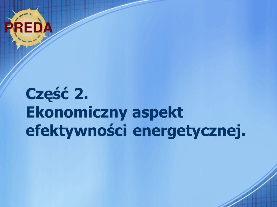 Część 2. Ekonomiczny aspekt efektywności energetycznej.