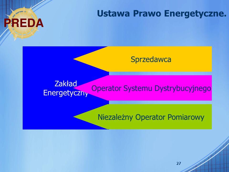 Ustawa Prawo Energetyczne.