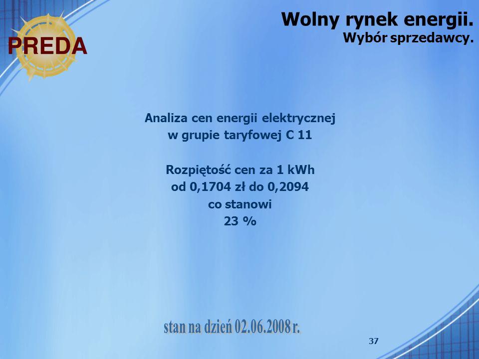 Wolny rynek energii. Wybór sprzedawcy.