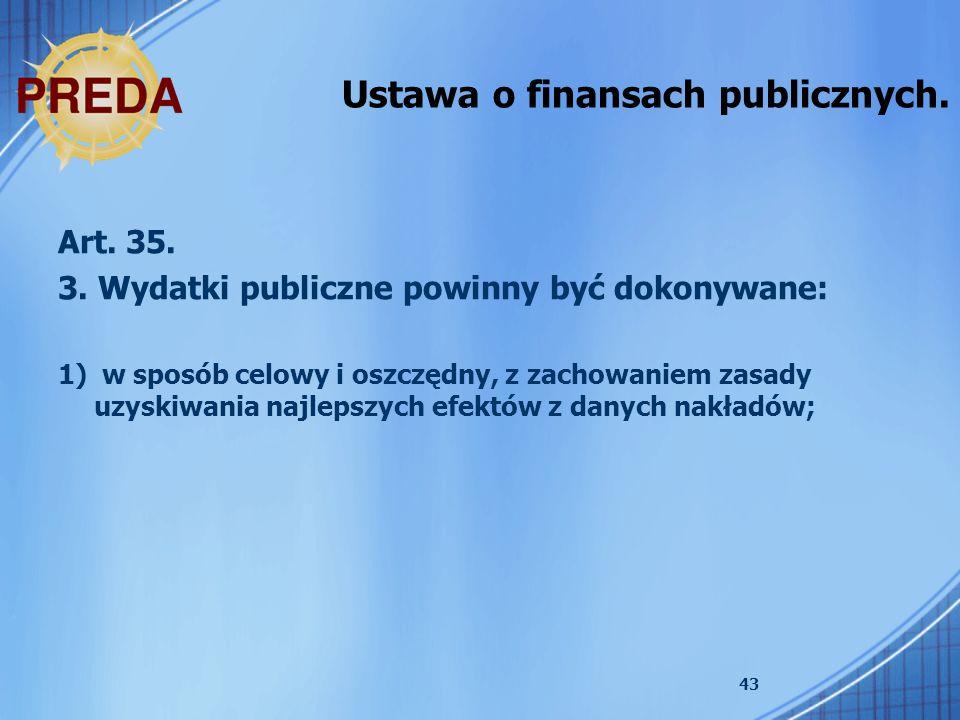 Ustawa o finansach publicznych.