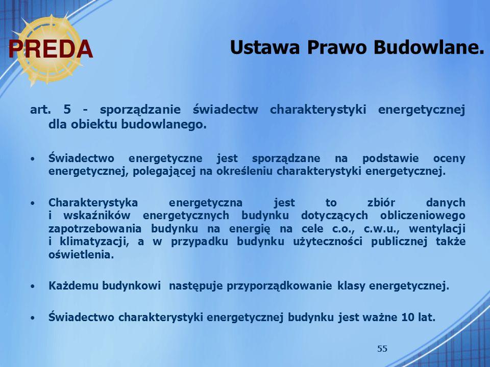 Ustawa Prawo Budowlane.