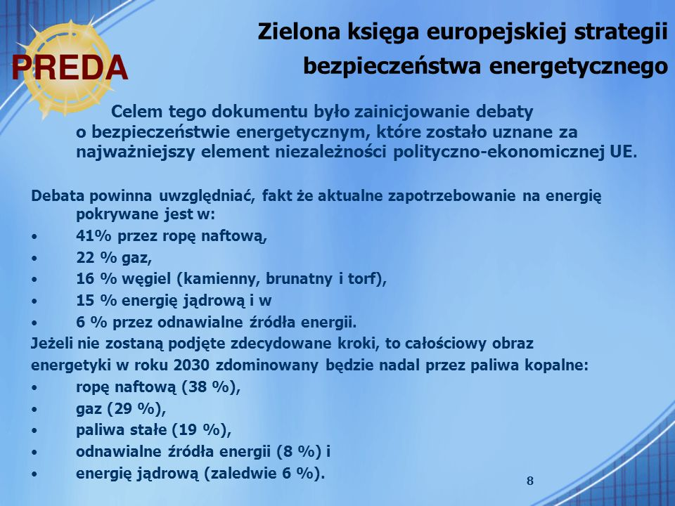 Zielona księga europejskiej strategii bezpieczeństwa energetycznego