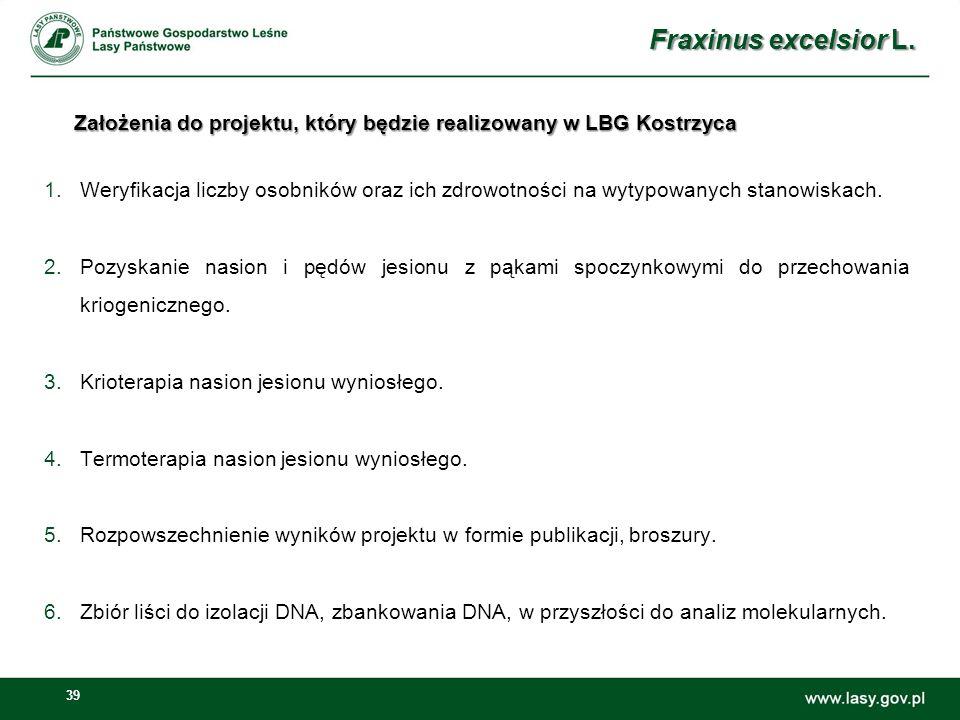 Założenia do projektu, który będzie realizowany w LBG Kostrzyca