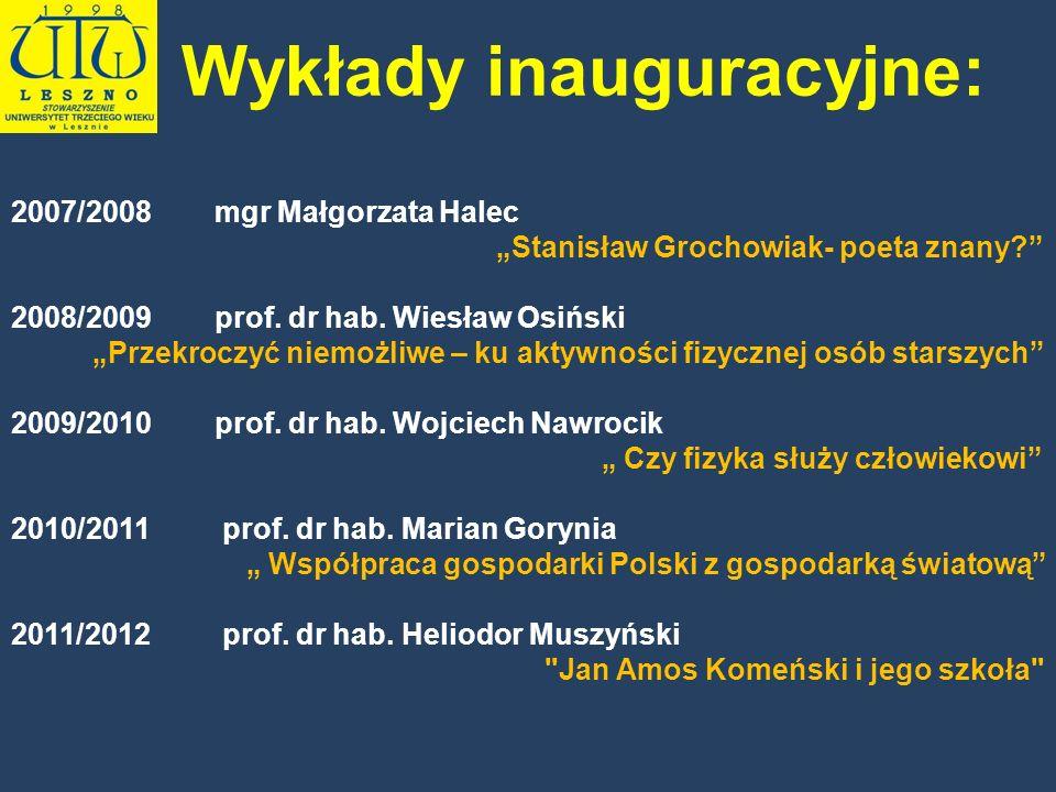 Wykłady inauguracyjne: