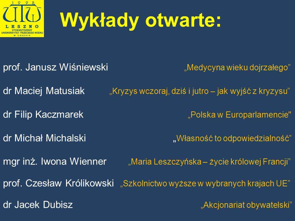 """Wykłady otwarte: prof. Janusz Wiśniewski """"Medycyna wieku dojrzałego"""