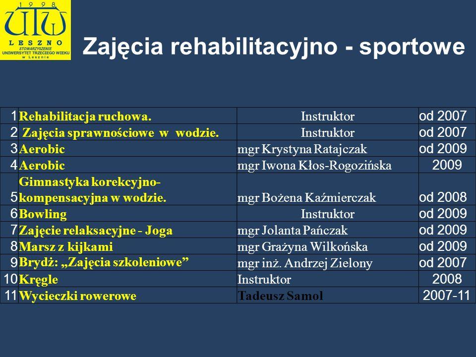 Zajęcia rehabilitacyjno - sportowe