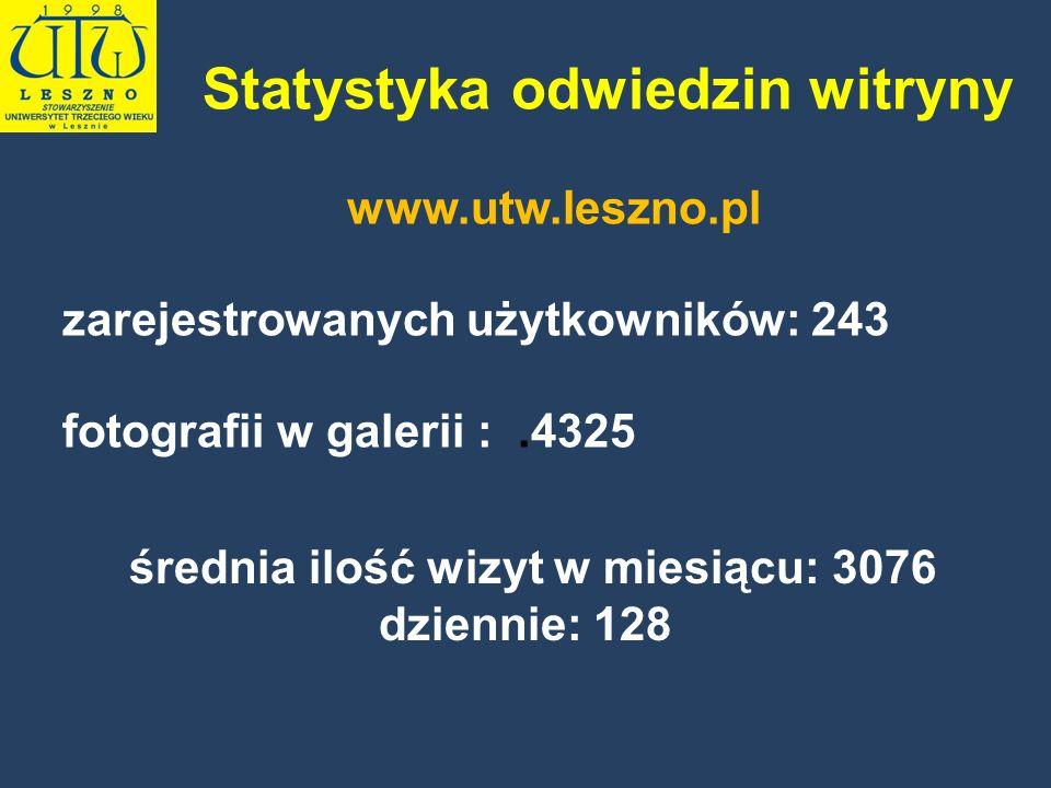 Statystyka odwiedzin witryny