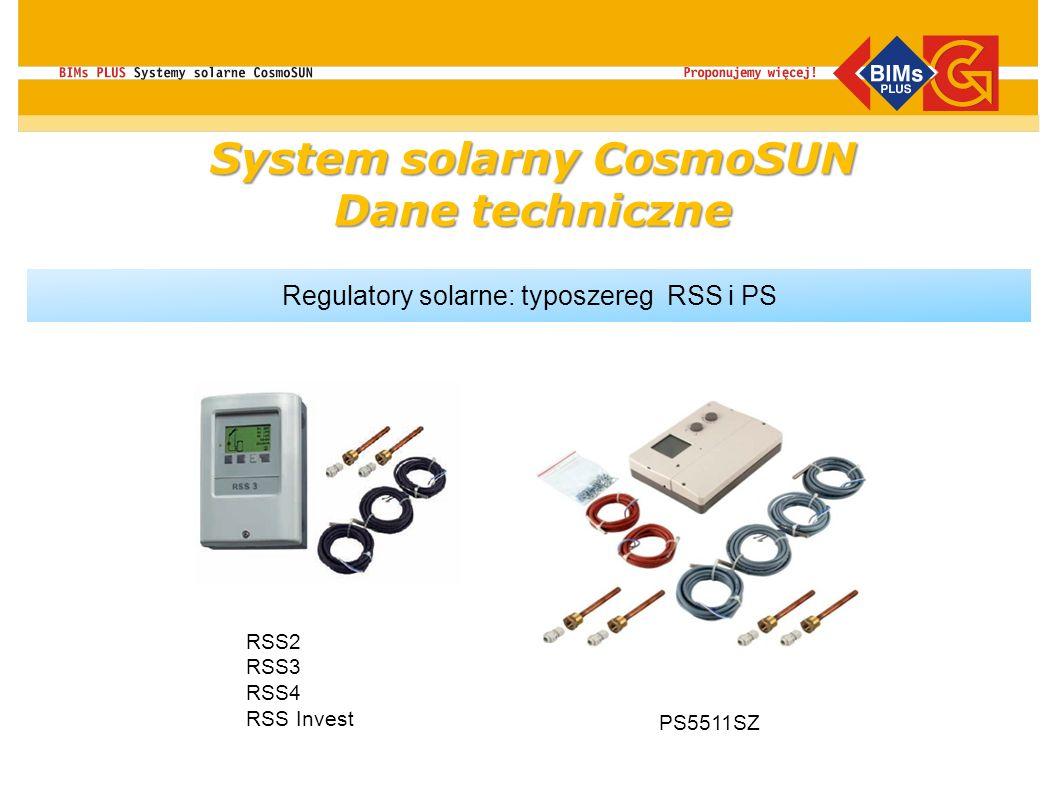System solarny CosmoSUN Dane techniczne