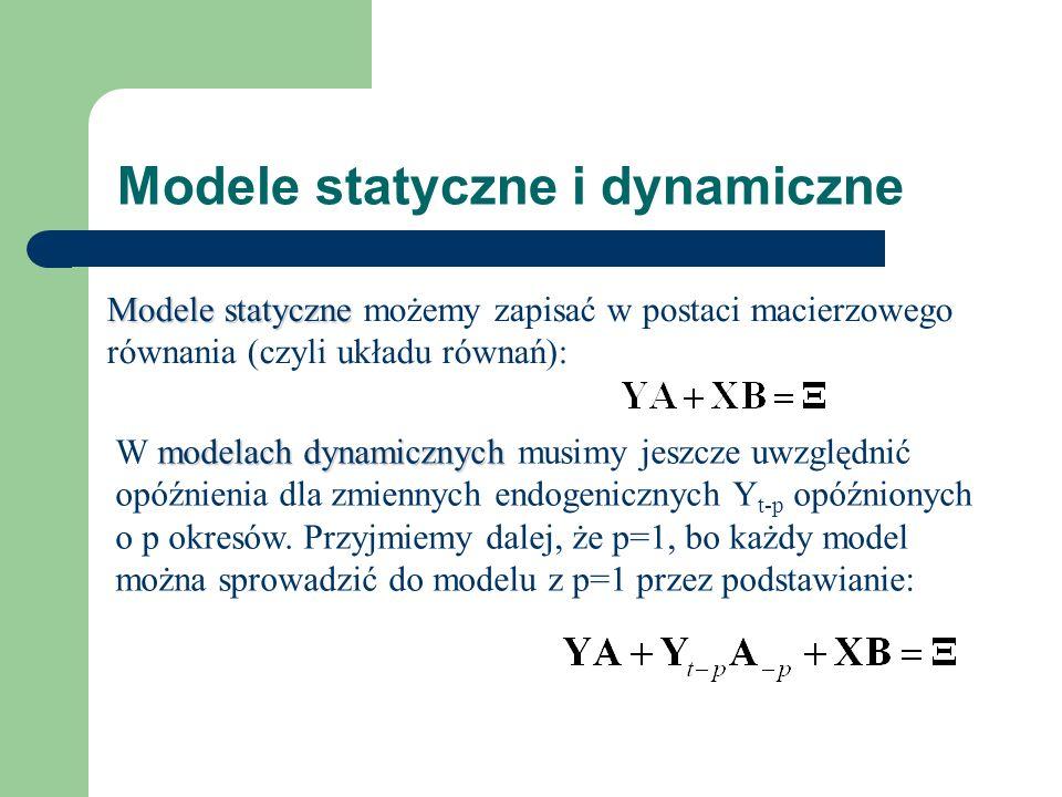 Modele statyczne i dynamiczne