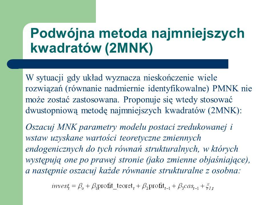 Podwójna metoda najmniejszych kwadratów (2MNK)
