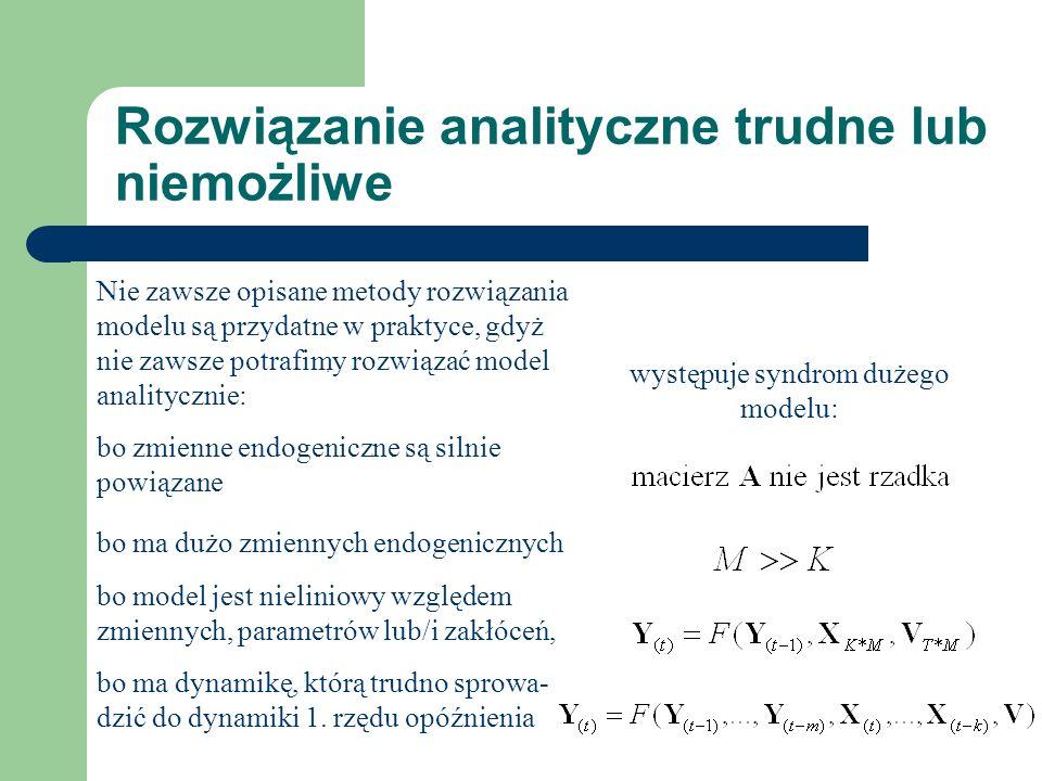 Rozwiązanie analityczne trudne lub niemożliwe