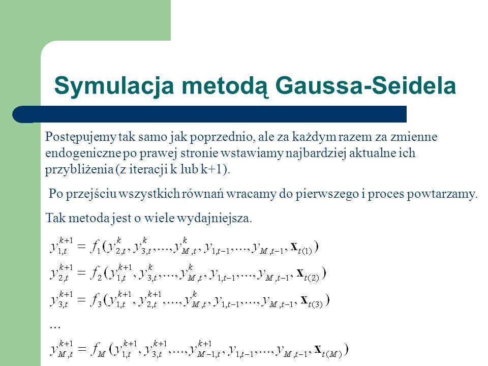 Symulacja metodą Gaussa-Seidela