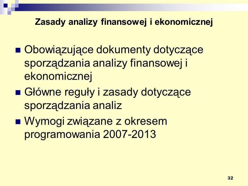 Zasady analizy finansowej i ekonomicznej