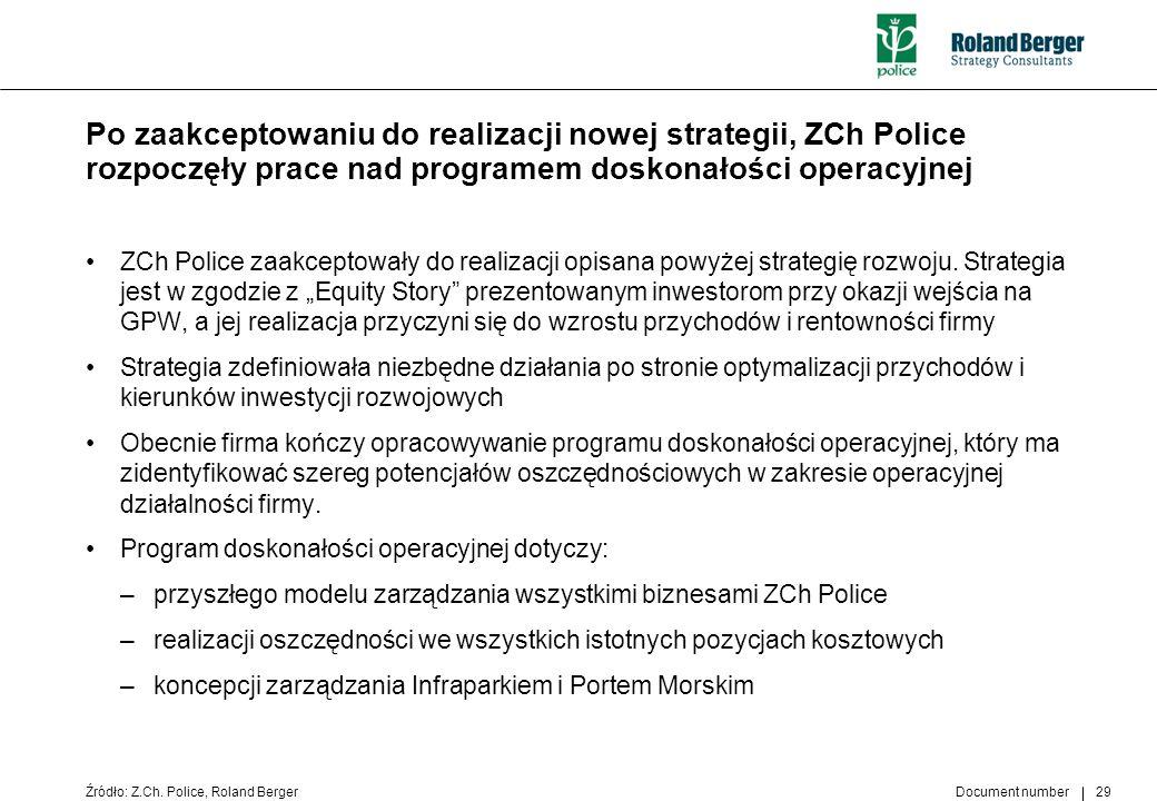 Po zaakceptowaniu do realizacji nowej strategii, ZCh Police rozpoczęły prace nad programem doskonałości operacyjnej