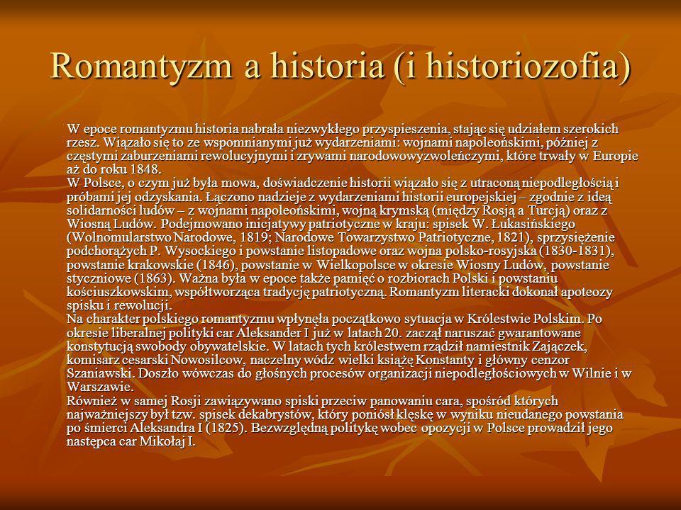 Romantyzm a historia (i historiozofia)
