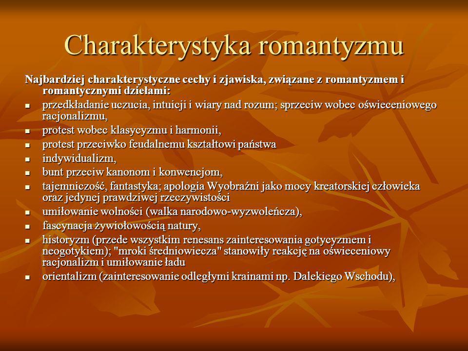 Charakterystyka romantyzmu