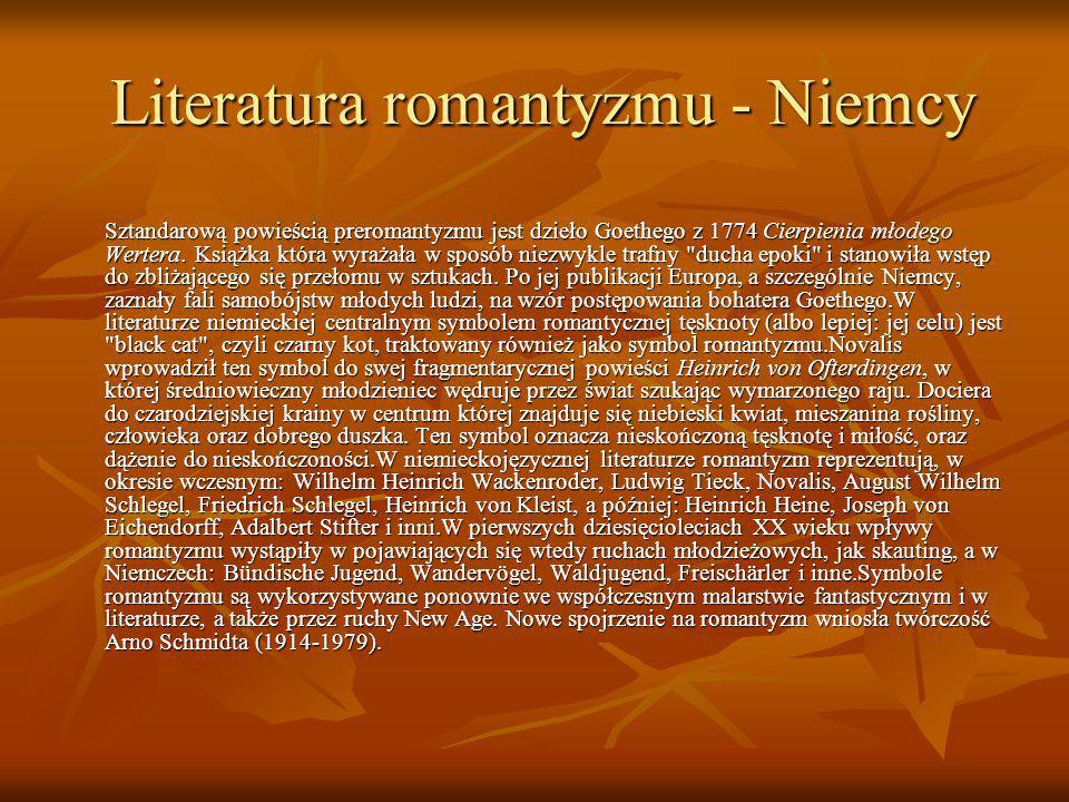 Literatura romantyzmu - Niemcy