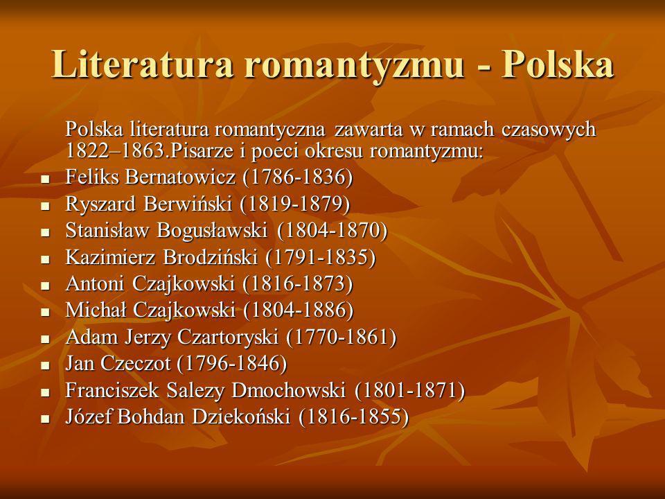 Literatura romantyzmu - Polska